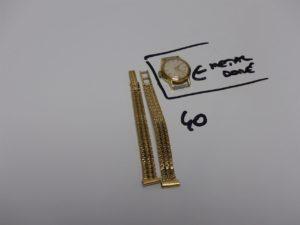 1 bracelet de montre en or casse PB 18,9g + boitier montre en métal doré