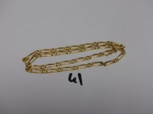 1 chaîne maille alternée en or (L46cm). PB 20,7grs