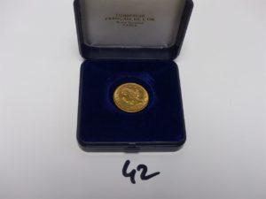 1 pièce de 5 Dollars Tête de Liberté en or. PB 8,3grs