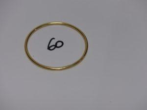 1 bracelet jonc en or (diamètre 6cm). PB 21,4grs