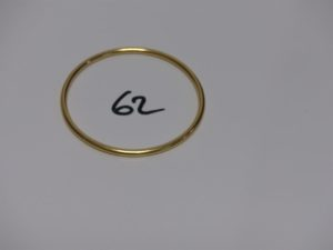 1 bracelet jonc en or (diamètre 6cm). PB 21,2grs