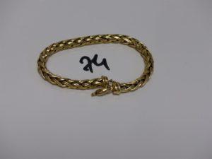 1 bracelet maille palmier en or (L18cm, fermoir à fixer et anneau de bout à souder). PB 12,3grs
