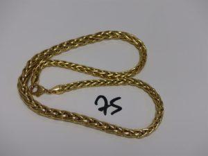 1 collier maille palmier en or (L44cm). PB 26,6grs
