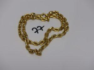 1 chaîne maille alternée en or (L58cm). PB 31grs