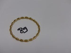 1 bracelet jonc torsadé en or (diamètre 5,5cm). PB 25,9grs