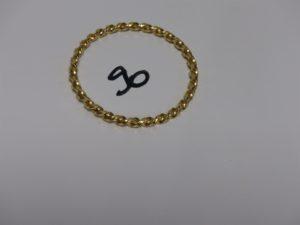 1 bracelet jonc torsadé en or (diamètre 6cm). PB 28,5grs