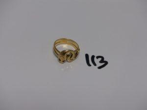 1 bague en or à décor d'1 serpent dont les yeux sont ornés d'1 pierre rouge (Td54). PB 6,3grs