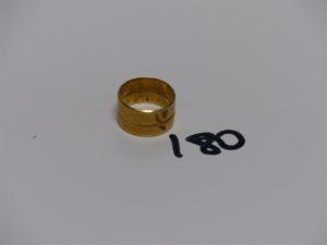 1 alliance en or gravée à l'intèrieur (Td53). PB 8,2grs