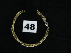 1 bracelet en or maille torsadée (L21cm, cassé). PB 5,2g