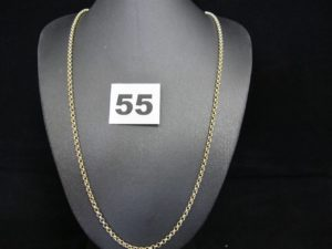 1 chaine en or maille jaseron (L 53cm). PB 11,6g