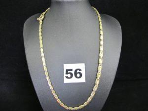 1 collier en or en maille fantaisie fermoir bouée ouvragée (L 42cm). PB 17,4g