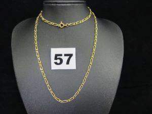 1 chaine maille alternée en or (L54 cm).PB 9,6g