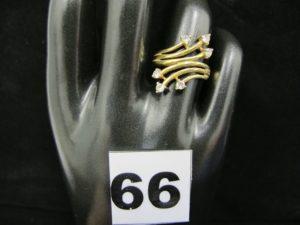 1 bague en or, ornée de 6 pierres (TD53)PB 4,2g