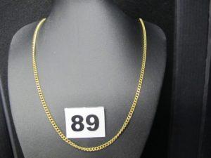 1 chaine en or maille gourmette (L56cm).PB 14,4g