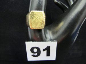 1 chevalière en or (à graver TD 57). PB 6g