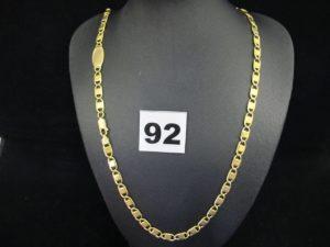 1 chaine en or maille marine fantaisie (L 50cm). PB 27,4g