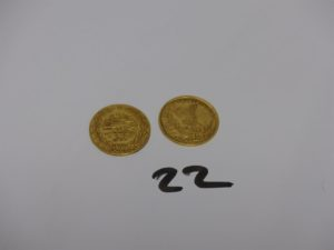 2 pièces d'or turques PB 14,26g