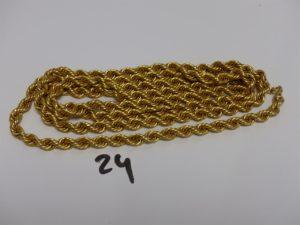 1 sautoir maille corde en or (L138cm). PB 53,3g