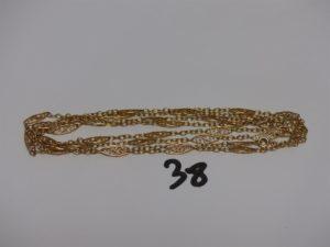 1 sautoir à motifs filigranés en or (L108cm). PB 15,5g