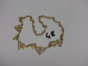 1 collier draperie en or (L41cm). PB 14,7g