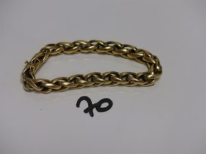 1 bracelet maille palmier en or (L20cm). PB 28,9g
