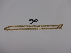 1 chaine maille marine en or (L53cm). PB 8g
