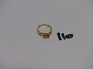 1 bague en or rehaussée d'une pierre jaune (td46). PB 3,1g