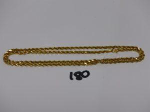 1 chaîne maille corde en or 21K (L68cm). PB 46,2g