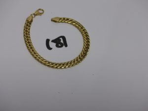 1 bracelet maille anglaise en or (L18cm). PB 9,9g