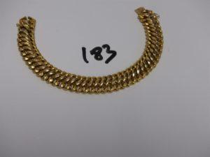 1 bracelet maille festonnée en or (L21cm). PB 26,7g