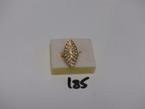 1 bague marquise en or ornée d'un pavage de petits diamants environ 0,65ct le tout (td50). PB 6,7g