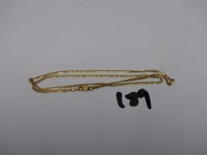 1 chaîne maille plate en or (L40cm). PB 3,5g
