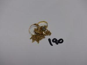 1 Lot casse en or (1 boucle avec petite pierre). PB 11,2g