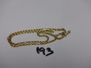 1 collier maille festonnée cassé en or. PB 7,1g
