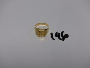 1 chevalière en or à décor d'un serpent (manque pierre centrale, td60). PB 5,1g