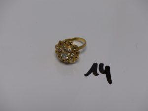 1 bague en or ornée de petites pierres (td50). PB 5,8g
