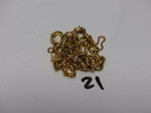 1 Lot casse en or et petites pierres. PB 37,1g