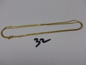 1 chaîne maille serpent en or (L66cm). PB 5,8g
