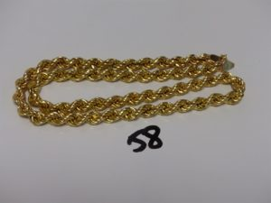 1 collier maille corde en or (L55cm). PB 24,9g