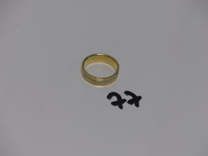 1 alliance bicolore en or poli et granité (td59). PB 6,4g