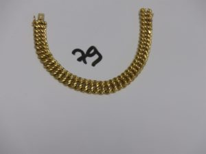 1 bracelet maille américaine en or (L18cm). PB 18,7g