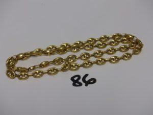 1 collier maille grain de café en or (L57cm). PB 27,5g