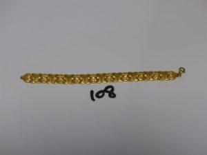 1 bracelet maille articulée en or 22K (L19cm). PB 22g