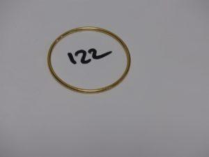 1 bracelet jonc en or (diamètre 6,3cm). PB 21,4g