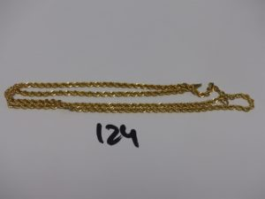 1 chaine maille corde en or (L60cm). PB 8,3g