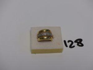 1 bague en or ornée d'1 pavage de petits diamants (Td52). PB 8,8g