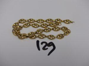 1 chaine maille grain de café en or (cassé, creux) PB 7g