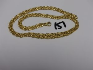 1 collier maille royale en or (L46cm). PB 20,3g