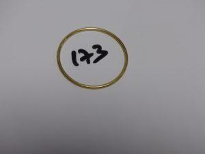 1 bracelet jonc pour enfant en or (diamètre 5cm). PB 11,5g