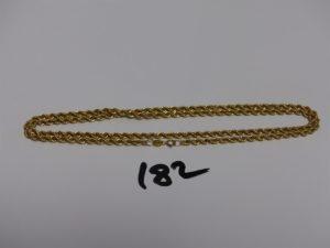 1 chaîne maille corde en or (L62cm). PB 7g